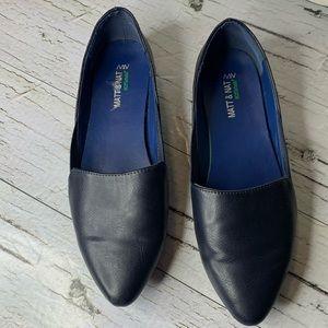 Matt & Nat Westmount Vegan Pointed Toe Flats Blue Pointed toe